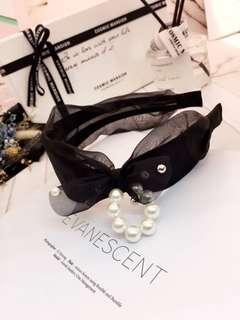 🚚 韓款最新單色珍珠類似寬髮箍 限量特價$300/個