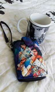 COLLECTOR'S ITEM  Elvis Presley Mug and Pouch