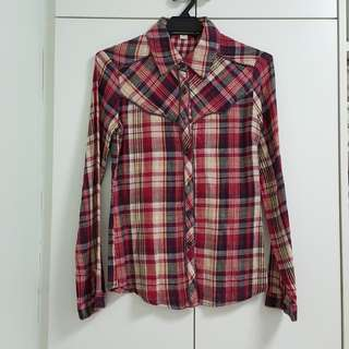 Forever 21 red checkered shirt - S