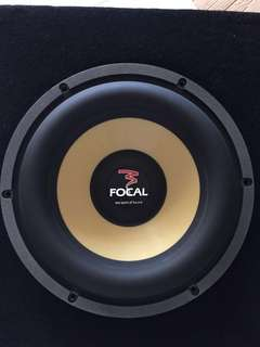"Focal 27WX 11"" for Sales with woofer box"