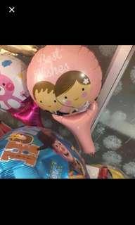 Best wishes handheld balloon