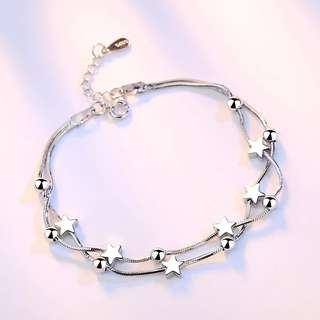 Sliver Star Ball Bracelet