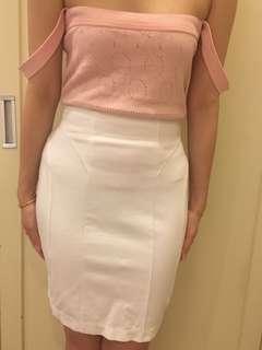 White Stretchy Skirt