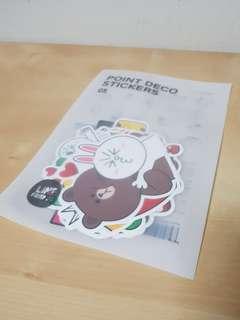 Line friend Deco Stickers (from Korea)
