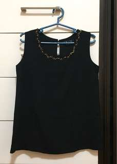 Vise Versa Black Blouse (Sleeveless Top)