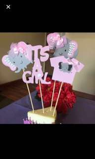 Full set at $1.00: Its a girl / boy cake topper