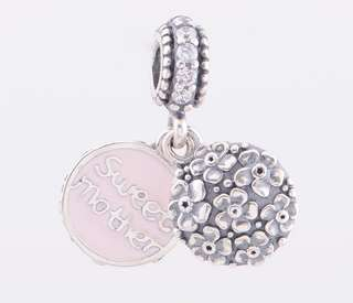 Code SS252 - Pink Sweet Mother Dangle 100% 925 Sterling Silver Charm, Chain Is Not Included, Compatible With Pandora