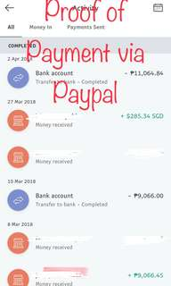 Proof of Payment via Paypal - Coach Mini Sierra & MK iPhone Wrislet