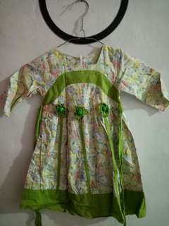 Dress muslim perempuan uk 1-2th
