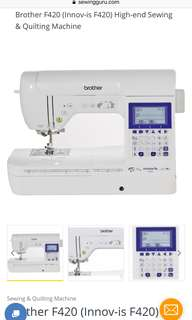 Brother Sewing Machine innovis F420