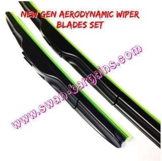 Efficient Clean Smooth Wiping Aerodynamic Car Windscreen Natural Soft Rubber Wiper Blades Set SG
