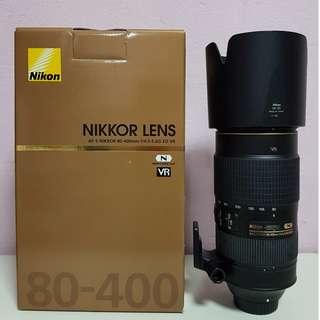 AF-S NIKKOR 80-400mm f/4.5-5.6 G ED VR Nano lens