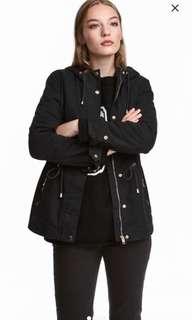 H&M short hooded parka
