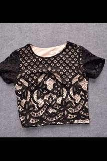 Elegant lace crop tops