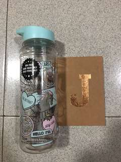 Typo Bottle and J Notebook