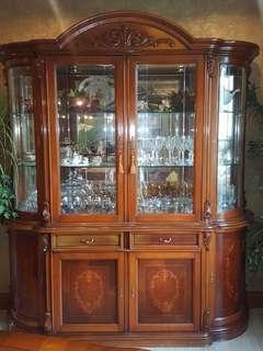 Italian Dining Room Set/ Display Cabinet
