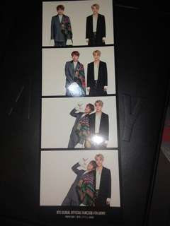 BTS 4th ARMY Zip Photocard (V and J-Hope)