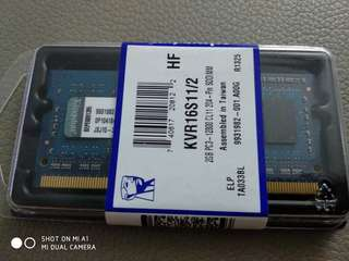Kingston PC3-12800 Notebook Ram 2GB