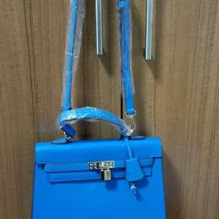 blue shoulder sling body ladies bag