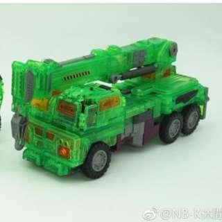 Preorder NBK-06C Clear Crane Hook Constructicons Devastator Transformers