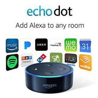 🚚 Amazon Echo Dot 2 (2nd Generation) For Smart Home Control  - Black / White