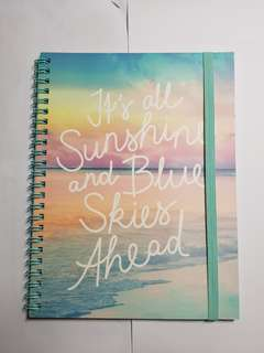 """Typo Notebook """"Its all Sunshine and Blue Skies Ahead"""""""