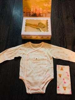 Agabang (korean brand) organic cotton top for newborn