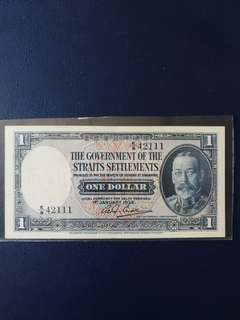 Our straits settlement $1 dtd 1934 Good EF Nice