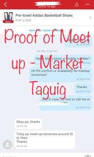 Proof of Meet up - Market Market