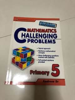 Brand New P5 challenging math by Andrew are for sale!