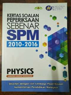 SPM Physics past year