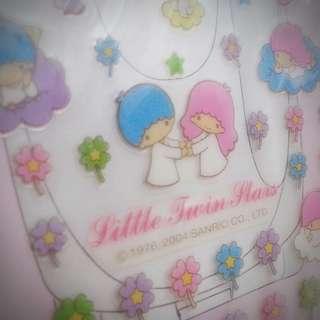 Little Twun Stars 2004年 防水貼紙  Sanrio Product 日本空運 日本版 珍藏 紀念 小禮物(雙星仙子,KiKi&LaLa)(リトルツインスターズ) 295564