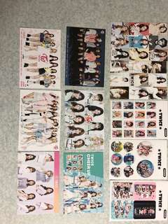 Twice postcard and Sticker