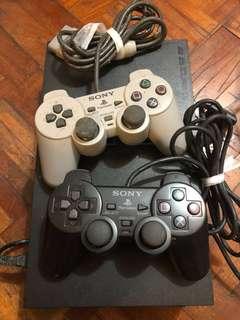 賣100%work PS2 連兩手制加幾十隻碟