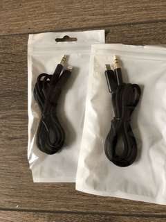 Apple to aux cable x2