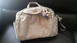 Tots diaper bag grey new