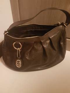 GUCCI DARK BROWN HOBO BAG