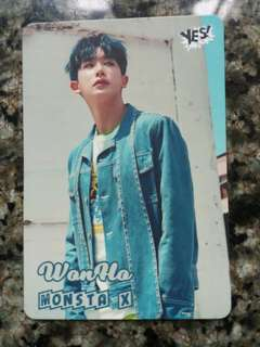 Monsta X 元虎(Wonho)Yescard