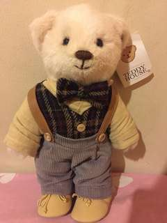 "Teddy House Willy 10"" autumn waistcoat , pants with strap , and shoes"