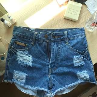 BN Dark washed denim shorts
