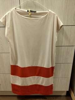 🚚 粉橘棉洋裝