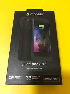 2018 APPLE IPHONE 7 PLUS MOPHIE JUICE PACK AIR 33 HOURS MORE BATTERY CASE LIMITED BLACK