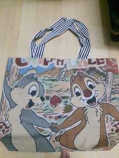 Hongkong Disneyland Chip & Dale Tote Bag