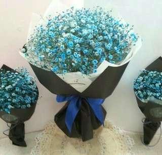 Blue Baby Breath Bouquet / Surprise / Flower Bouquet