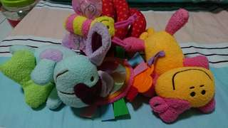 Preloved Baby soft toys Plushies (For Pram;Baby Cot)
