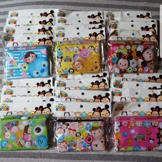 [6 Designs!] Disney Japan Tsum Tsum Ez-Link Card Holder Coin Purse Lanyard Wallet