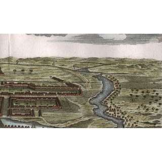 1747 Hand coloured copper engraving of Banda Aceh