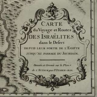 1720 antique map 300 years old!! CARTE du Voyage et Routes DES ISRAELITES dans le Desert (..)