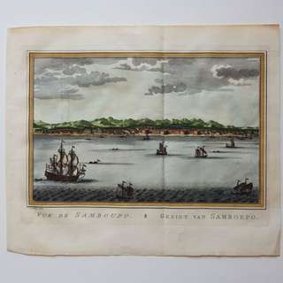 1755 Makassar City; Vue de Samboupo by J. van Schley