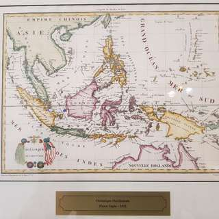 1812 antique map of Indonesia: Oceanique Occidentale by Pierre Lapie